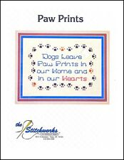 """The Stitchworks """"Paw Prints"""" Counted Cross Stitch Kit"""