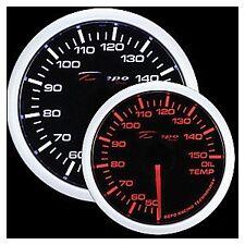 Depo Racing 52mm Celsius WA Oil Temp Gauge Smoked Lens WA5247BCEL