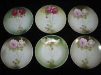 Set of 6 Art Nouveau Barvarian Porcelain Plates ** Nice Antique Pieces