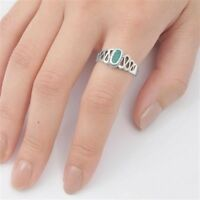 USA Seller Turquoise Oval Ring Sterling Silver 925 Best Deal Jewelry Size 10