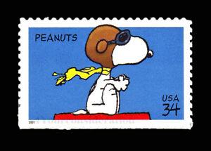 2001 Scott #3507 .34¢ - PEANUTS - SNOOPY, FLYING ACE - VF-MNH-S/A Single