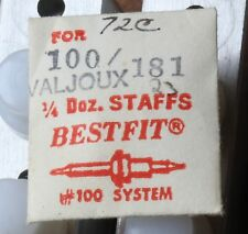 Valjoux 72C vintage chronograph watch balance staff Bestfit Swiss Made part NOS