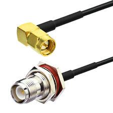 Superbat RG174 SMA Stecker to RP-TNC Buchse RF Koaxial Verlängerung Kabel 30CM