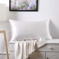 Great Queen Standard Silk Satin Pillowcases Silky Soft Pillow Case w/zipper