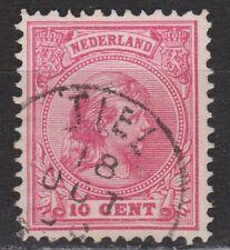 NVPH Netherlands Nederland nr 37 CANCEL TIEL Wilhelmina 1893