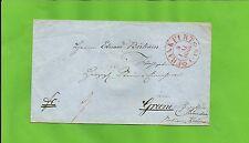 Th & T / FRANKFURT 9 MAI 1860 roter K2 m. Zierraute a. Kabinett-Tax.-Brief