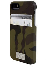 HEX Solo Wallet Leather Hard Case w/ID Cards Slot for iPhone SE iPhone 5s (Camo)
