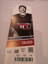 Montreal Canadiens  2013 vs Sharks  Patrick Roy on ticket