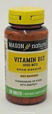 Mason Natural Vitamin B-12 1000mcg Sublingual Tablets - 100 Tablets