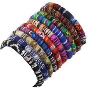 Bohemian Boho Ethnic fabric weave bracelet