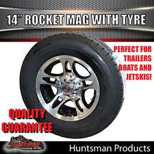 """14"""" & 185 LT Tyre suits Ford Rocket Alloy Mag Wheel. Caravan Trailer Jetski Boat"""