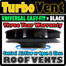 BLACK Wind Driven Roof Vent Low Profile Van Dog Pet Horse Vehicle 4x4 Air Rotary