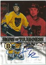 2003-04 Topps Signs of Toughness Autograph: PJ Stock Boston Bruins