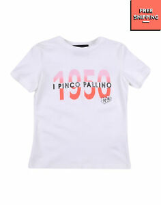 I PINCO PALLINO T-Shirt Top Size 6Y Printed Front Short Sleeve Made in Italy