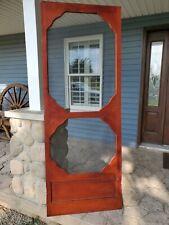 Vintage Wooden Screen door, wooden country rustic door with screen, early 1900's