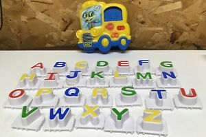 Leap Frog Magnetic Yellow Refrigerator School Bus 26 Letters Alphabet Phonics