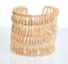 BRACCIALE RIGIDO oro dorato donna a schiava regolabile bigiotteria bracelet A44