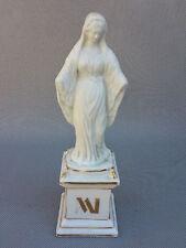 Ancienne statuette en porcelaine vierge Marie socle doré religieux