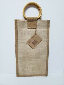 Oenophilia Sac au Vin - Two Bottle Carrier with Bamboo Handles