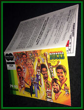 1979-80 MILWAUKEE BUCKS MASTERCARD VISA BASKETBALL POCKET SCHEDULE FREE SHIP