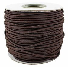 Brown Elastic Cord - 10 Yards - 2mm - Stretch Cording Craft Jewelry Beading