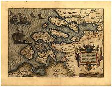 Netherlands Zeeland Middelburg Benelux map Abraham Ortelius ca.1570