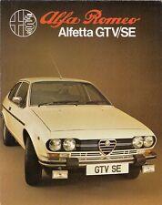 ALFA ROMEO ALFETTA 2000 GTV se 1980-81 UK Opuscolo Vendite sul Mercato PIEGA