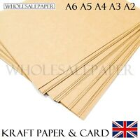 A6 A5 A4 A3 A2 BROWN KRAFT CARD BLANKS CRAFT PRINTER PAPER PLACE TAGS BAG LABELS