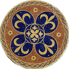 "36"" HandMade Art Tile Stone Patterns Medallion Floral Decor Marble Mosaic"