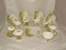 21 piece Shelley China England Daffodil Time afternoon teaset New Regent shape