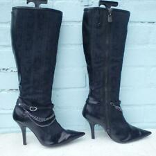 Morgan Boots Size Uk 5 Eur 38 Womens Ladies Sexy Chains Buckles Black Boots