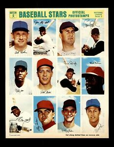 1969 MLB Baseball Stars Official Photostamps NATIONAL League Series 3