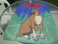 New Boxer Dog House Garden Flag 28 Inches X 40 Inches Embroidered Ready To Hang