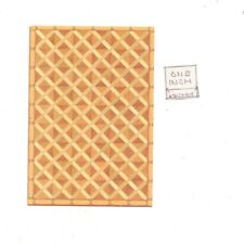 Faux Parquet Wood 24032 floor sheet dollhouse 1pc World & Model card stock 1/24