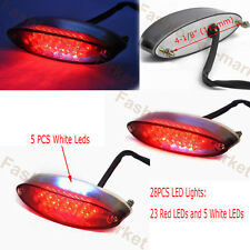 New Motorcycle ATV Motorbike Red LED Brake Stop Running Tail Light Universal 12V