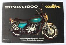 AFFICHE ANCIENNE moto HONDA GOLDWING GL 1000 1974-1979
