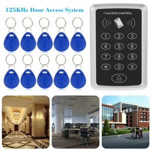 12V Door RFID ID Card Password Entry Access Control Controller Set + 10 Keypads