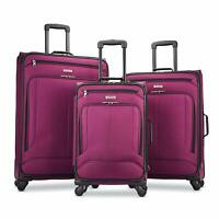American Tourister Pop Max 3 Piece Luggage Spinner Set - 29/25/21(Berry)