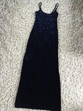 Status Collection dark blue spaghetti strap full length dress Sz Small Women