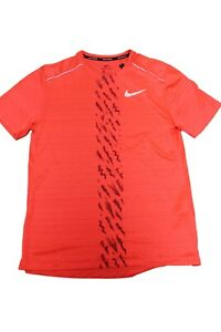 Nike Men's Running Run Dri Fit Sports Running Shirt Red Size M New With Label