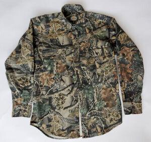 Cabelas Men's 7 Button Shirt Seclusion 3D Camo size S/P