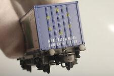 """Märklin H0 84568 Vagone Trasporto Container Europa 1993 """" Paesi Bassi """" in Buono"""