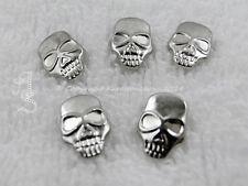 10 Hotfix Totenkopf Bügelnieten Nieten zum aufbügeln Silber Karostonebox