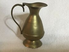 vintage brass pitcher india 4 1/2� Tall