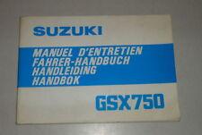 Betriebsanleitung Suzuki Motorrad GSX 750 Stand 03/1980