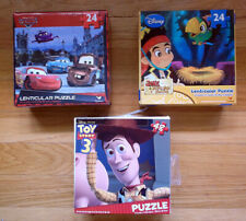 Toy Story, Cars, Jake and the Neverland Pirates Jigsaw Puzles, lot of 3