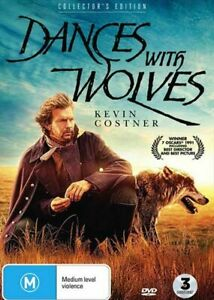 DANCES WITH WOLVES Collector's Edition New 3 Dvd KEVIN COSTNER ***
