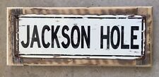 Jackson Hole Wyoming Mtn Ski Resort Vintage Framed Metal Street Sign Home Decor