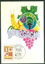 CARTES 1ER JOUR MAXIMUM  SERIE DES REGIONS  LA BOURGOGNE   25/10/1975  N° 41