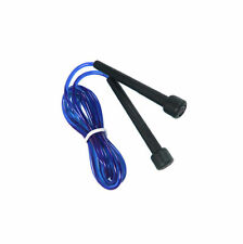 Skipping Speed Rope Weighted Fitness Boxing PVC Plastic Jump Jumping Gym BLUE UK